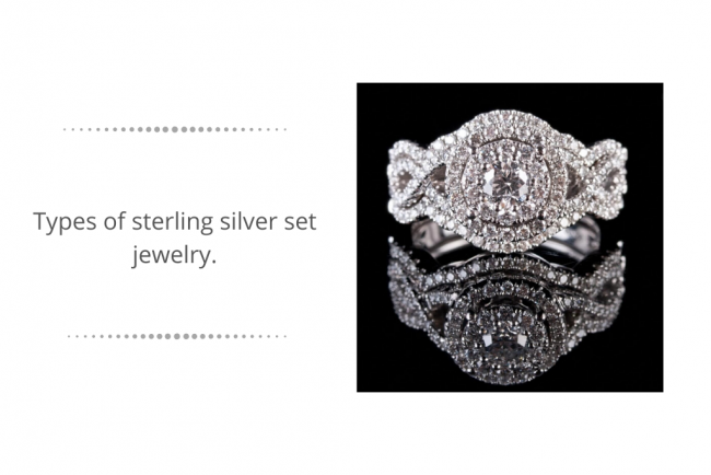 sterling silver set jewelry